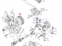 Шкив водяного насоса двигателя Sisu Diesel — 836855074
