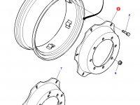 """Вставка переднего колесного диска трактора Massey Ferguson (24"""") — 3712567M1"""
