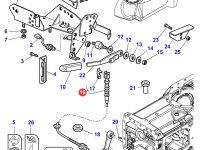 Трос управления ВОМ трактора Massey Ferguson — 3712989M2
