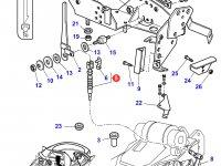 Трос управления ВОМ трактора Massey Ferguson — 3715483M1