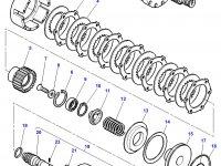 Муфта включения вала отбора мощности (ВОМ) трактор Challenger в сборе — 3716008M15