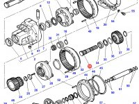 Солнечная вал-шестерня бортового редуктора заднего моста трактора Challenger (левая сторона) — 3716508M6