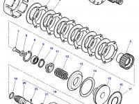Муфта включения вала отбора мощности (ВОМ) трактор Challenger в сборе — 3716924M16