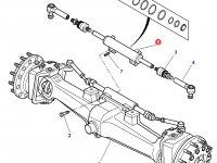 Рулевой цилиндр трактора Massey Ferguson (фиксированный мост) — 3764032M91