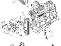 Крыльчатка (вентилятор) радиатора трактор Challenger — 3777244M1