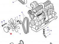 Вискомуфта вентилятора трактор Challenger — 3777245M2