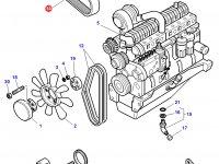 Ремень генератора трактора Challenger — 3777748M2