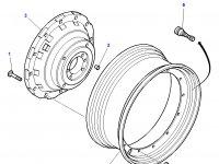 Задний колесный диск трактора Massey Ferguson (DWW16Lx42) — 3781926M1