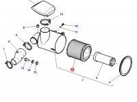 Воздушный фильтр большой трактора Challenger — 3782386M1