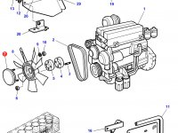 Вискомуфта вентилятора трактор Challenger — 3783123M1