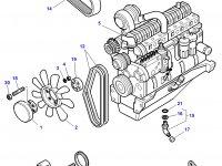 Стартер трактора Challenger — 3784889M2