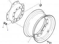 Вставка переднего колесного диска трактора Challenger — 3785241M1