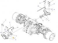 Втулка переднего и заднего суппорта переднего моста трактора Massey Ferguson — 3787722M2