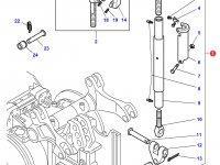 Центральный винт задней навески трактора Massey Ferguson (с крюком на конце, 675/959 MM CAT 3) — 3788395M92