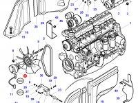 Вискомуфта вентилятора трактор Challenger — 3789258M1