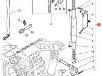 Центральный винт задней навески трактора Massey Ferguson (с крюком на конце, 605/850 MM CAT 3) — 3791535M93