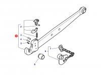 Левая тяга (с крюком) навески трактора Massey Ferguson (100x30x940 CAT 3) — 3792523M1