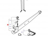 Правая тяга (с крюком) навески трактора Massey Ferguson (90x30x940 CAT 2) — 3792527M1