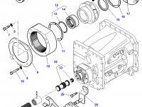 Вилка включения пониженной передачи КПП трактор Challenger — 3793461M2