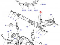 Левый рычаг навески трактора Massey Ferguson — 3796054M12