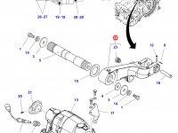 Левый рычаг навески трактора Massey Ferguson — 3796054M13