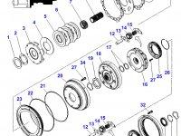 Планетарная передача мультипликатора КПП трактора Massey Ferguson — 3796308M4