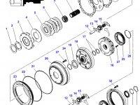 Планетарная передача мультипликатора КПП трактора Challenger — 3796308M4
