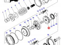 Планетарная передача мультипликатора КПП трактора Massey Ferguson — 3796315M2