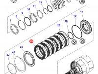 Фрикционный диск двойного сцепления КПП трактора Massey Ferguson — 3796343M1