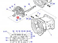 Крышка КПП трактора Massey Ferguson — 3796359M6