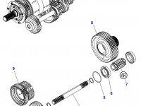 Промежуточный вал КПП трактора Massey Ferguson — 3796376M4