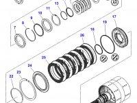 Шестерня узла двойного сцепления КПП трактора Massey Ferguson — 3796536M92