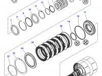 Шестерня узла двойного сцепления КПП трактора Challenger — 3796536M92