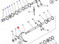 Вилка переключения передач КПП трактора Massey Ferguson — 3796580M2
