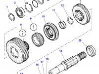 Шестерня передачи 3 КПП трактора Massey Ferguson — 3798789M2