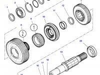 Шестерня передачи 3 КПП трактора Challenger (53 зуба) — 3798789M2