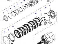 Вал двойного сцепления КПП трактор Challenger — 3799221M91