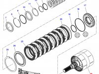Вал двойного сцепления КПП трактор Challenger — 3799221M92