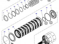 Шестерня узла двойного сцепления КПП трактора Challenger (32 зуба) — 3799225M91