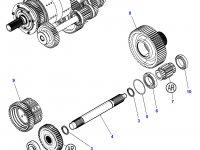 Шестерня реверса КПП трактора Challenger (46 зубьев) — 3799227M1