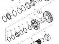 Шестерня передачи 1/3 КПП трактора Challenger (48/29 зубьев) — 3799327M3