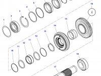 Шестерня передачи 1/3 КПП трактора Challenger (48/29 зубьев) — 3799327M4