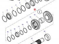 Шестерня передачи 4 КПП трактора Challenger (46 зубьев) — 3799329M1