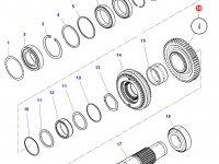 Шестерня передачи 4 КПП трактора Challenger (46 зубьев) — 3799329M2