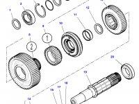 Шестерня передачи 4 КПП трактора Challenger (28 зубьев) — 3799339M2