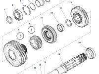 Шестерня передачи 4 КПП трактора Challenger (28 зубьев) — 3799339M3