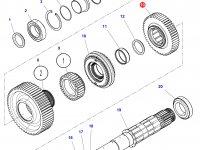 Шестерня передачи 3 КПП трактора Challenger (49 зубьев) — 3799341M3