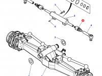 Шарнирный наконечник рулевой тяги трактора Massey Ferguson (полный привод, фиксированный мост) — 3903684M1
