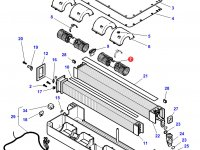 Вентилятор печки отопителя кондиционера кабины трактора Challenger — 3904296M1