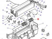 Вентилятор печки отопителя кондиционера кабины трактора Challenger — 3905950M91